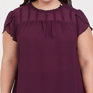 Torrid purple chiffon blouse size 2